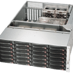RN2424 NAS Storage Server Angled view with cover open