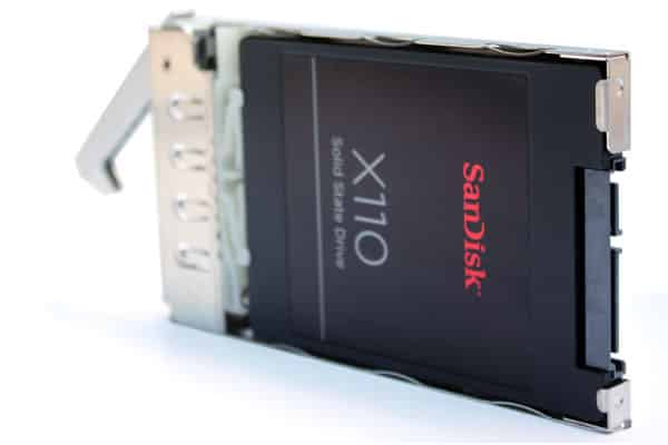 SanDisk SATA SSD in a Hot Swap LucidFlash carrier