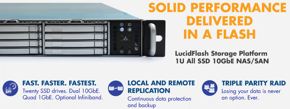 LucidFlash SS3120 All Flash Solid State NAS